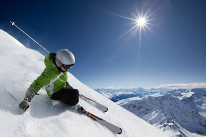 image of a person skiing